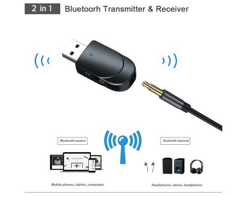 KN-330 Bluetooth 5.0 EDR 2-в-1 Беспроводной Приемник Передатчик Bluetooth-адаптер
