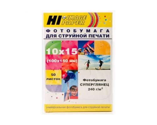 Фотобумага Hi-Image Paper суперглянцевая односторонняя, 10x15 см, 240 г/м2, 50 л.