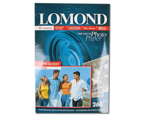 1103101 Фотобумага Lomond 260/А4/20л Суперглянец