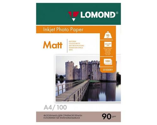 ФОТОБУМАГА LOMOND A4 МАТОВАЯ 90г/м2 100 листов #001