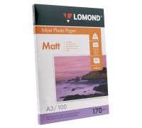 Фотобумага Lomond матовая двусторонняя (0102012), A3, 170 г/м2, 100 л.