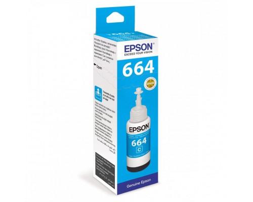 Чернила 664 Epson L100/110/200/210/300/355/550/555 (O) C13T66434A, cyan, 70ml