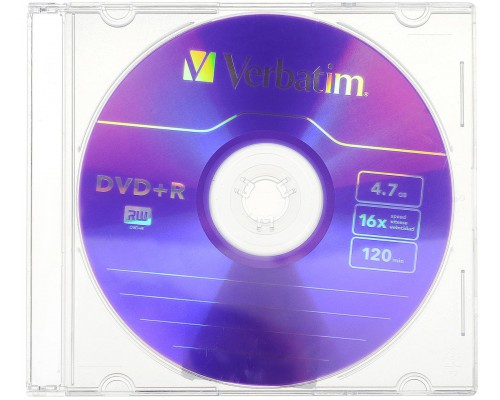 VERBATIM DVD-R 16X SLIM BOX