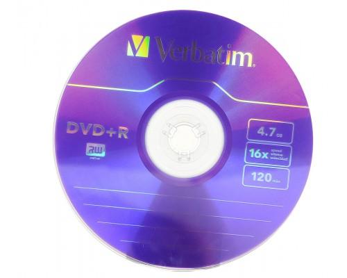Verbatim DVD+R 4,7Gb 16x 1 шт.
