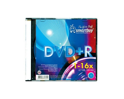 SMART BUY DVD+R 16X SLIM BOX 1 шт.