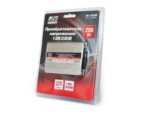 Автомобильный инвертер 12/220v AVS IN-200W