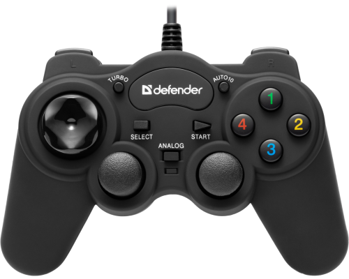DEFENDER GAMEPAD GAME RACER TURBO RS3 2 ДЖОЙСТ 10 КНОПОК