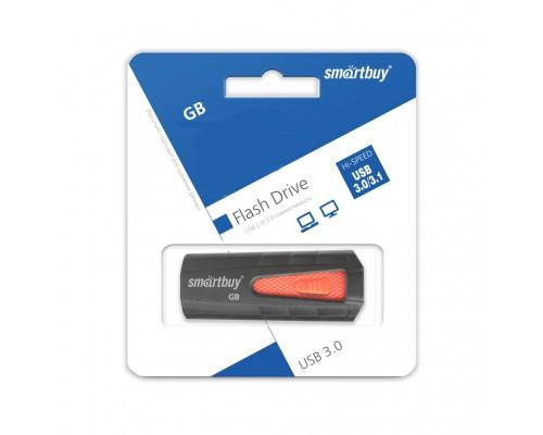 ФЛЭШ-КАРТА SMART BUY  128GB IRON ЧЕРН/КРАС ВЫДВИЖНАЯ USB 3.0