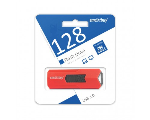 ФЛЭШ-КАРТА SMART BUY  128GB STREAM КРАСНАЯ ВЫДВИЖНАЯ USB 3.0