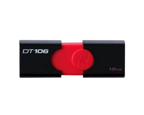 ФЛЭШ-КАРТА KINGSTON 16GB 106 DATA TRAVELER USB 3.0 ЧЕРН/КРАС