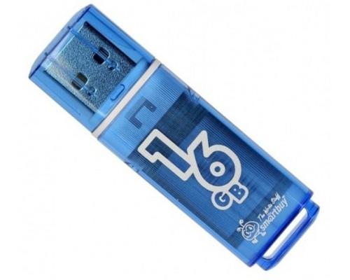 ФЛЭШ-КАРТА SMART BUY 16GB GLOSSY ГОЛУБОЙ ГЛЯНЕЦ USB 2.0