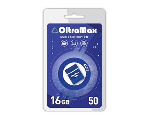 ФЛЭШ-КАРТА OLTRAMAX 16GB 50 MINI BLUE USB 2.0