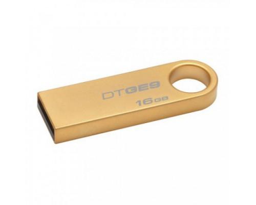 ФЛЭШ-КАРТА KINGSTON 16GB DTGE-9 GOLD СВЕРХТОНКАЯ USB 2.0