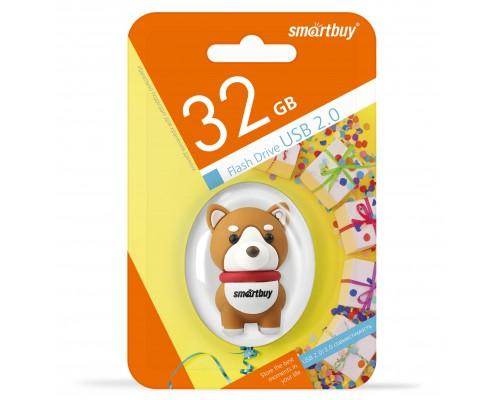 """ФЛЭШ-КАРТА SMART BUY  32GB WILD """"СОБАЧКА АКИТА"""" USB 2.0"""