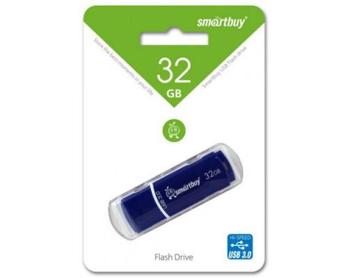 ФЛЭШ-КАРТА SMART BUY  32GB CROWN USB 3.0 BLUE С КОЛПАЧКОМ