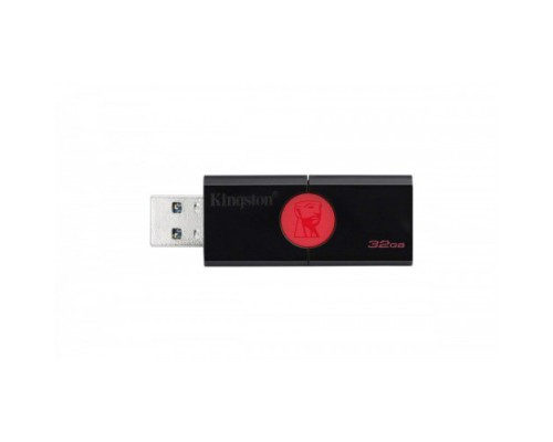 ФЛЭШ-КАРТА KINGSTON  32GB 106 DATA TRAVELER USB 3.0 ЧЕР/КРАС