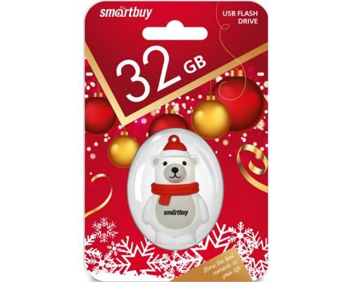 """ФЛЭШ-КАРТА SMART BUY  32GB WILD """"БЕЛЫЙ МЕДВЕДЬ"""" USB 2.0"""