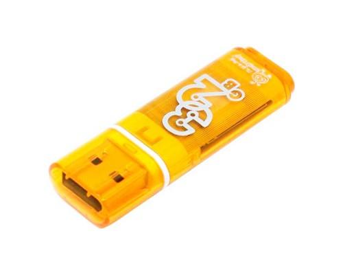ФЛЭШ-КАРТА SMART BUY  32GB GLOSSY ОРАНЖЕВЫЙ ГЛЯНЕЦ USB 2.0