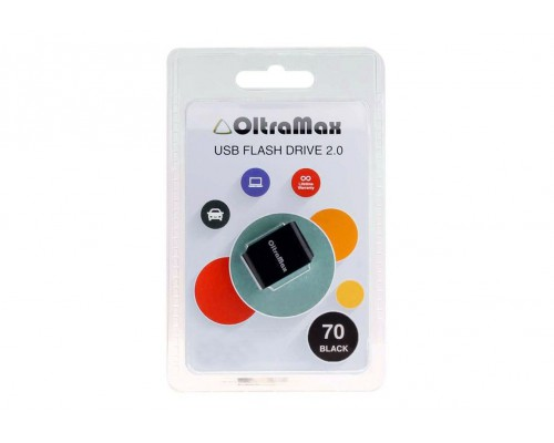 ФЛЭШ-КАРТА OLTRAMAX  32GB 70 mini BLACK USB 2.0