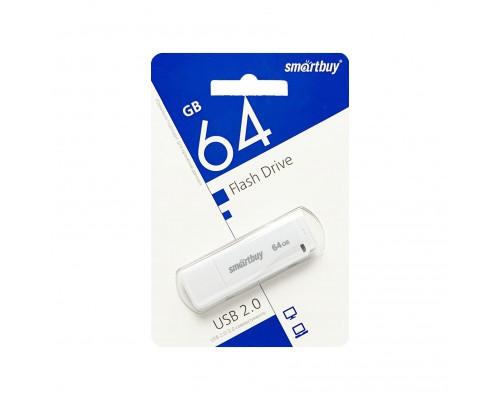 ФЛЭШ-КАРТА SMART BUY  64GB LM05 БЕЛАЯ С КОЛПАЧКОМ USB 2.0