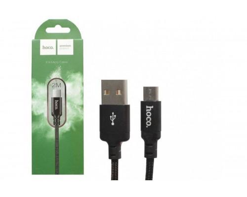 HOCO КАБЕЛЬ USB-microUSB X14 ЧЕРНЫЙ 2.0м TIMES SPEED