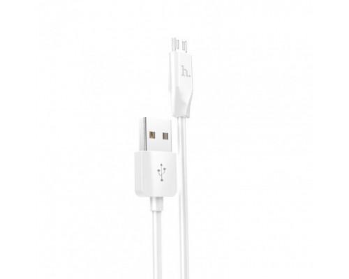 HOCO КАБЕЛЬ USB-microUSB X5 БЕЛЫЙ 1.0м BAMBOO
