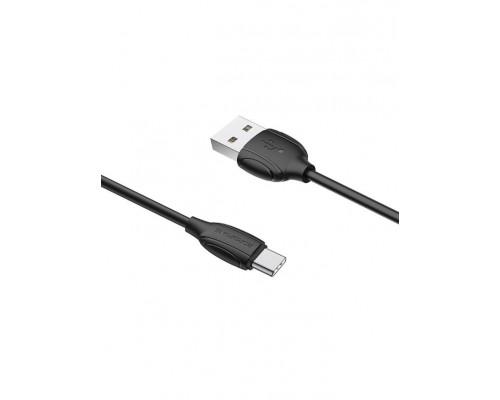 BOROFONE КАБЕЛЬ USB-TYPE-C BX19 КРУГЛЫЙ ЧЕРНЫЙ 1.0м 2.1A