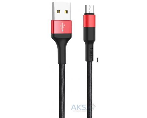 HOCO КАБЕЛЬ USB-microUSB X26 Xpress ЧЕРНЫЙ/КРАСНЫЙ 1.0м