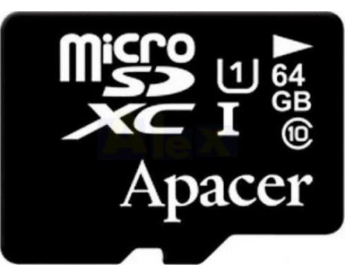 APACER  64GB MICRO SDXC CLASS 10 UHS-I БЕЗ АДАПТЕРА