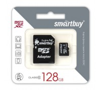 SMART BUY  128GB MICRO SDXC CLASS 10 UHS-I + SD АДАПТЕР