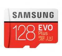 SAMSUNG 128Gb MICRO SDHC CLASS 10 EVO+/UHS-I/U3/90mb/s+SD АДАПТЕРА