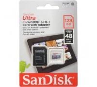 SANDISK  128GB MICRO SD CLASS 10 ULTRA 80MB/s+SD АДАПТЕР