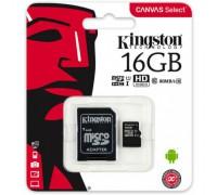KINGSTON 16GB MICRO SDHC CLASS 10 UHS-I U1 (80Mb/s)+ SD АДАПТЕР