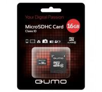 QUMO 16 GB MICRO SDHC CLASS 10 + SD АДАПТЕР