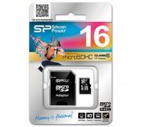 SILICON POWER 16GB MICRO SD SDHC CLASS 10 + SD АДАПТЕР
