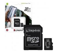 KINGSTON  32Gb MICRO SDHC CLASS 10 Canvas A1 (100Mb/s) +SD