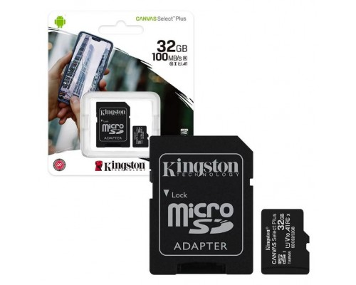 KINGSTON  32Gb MICRO SDHC CLASS 10 Canvas A1 (100Mb/s) +SD