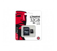 KINGSTON  32GB MICRO SDHC CLASS 10 UHS-I U1(80Mb/s)+SD АДАПТ