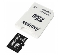 SMART BUY  32GB MICRO SDHC CLASS 10 UHS-I+SD АДАПТ 90/80Mb/s