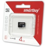 SMART BUY 4GB MICRO SDHC CLASS 10 БЕЗ АДАПТЕРА
