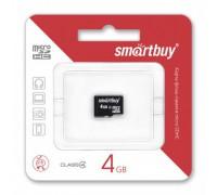SMART BUY 4GB MICRO SD SDHC CLASS 4 БЕЗ АДАПТЕРА