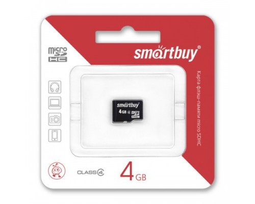 SMART BUY 4GB MICRO SD SDHC CLASS 4 БЕЗ АДАПТЕРА