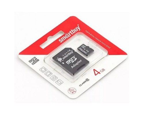 SMART BUY 4GB MICRO SDHC CLASS 10 + SD АДАПТЕР