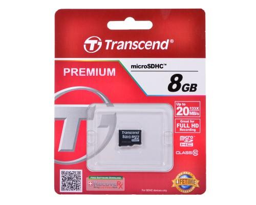 TRANSCEND 8GB MICRO SDHC CLASS 10 БЕЗ АДАПТЕРА