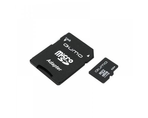 QUMO 8GB MICRO SDHC CLASS 4 + SD АДАПТЕР