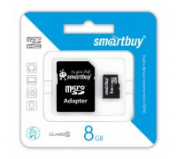 SMART BUY 8GB MICRO SD SDHC CLASS 10 + SD АДАПТЕР
