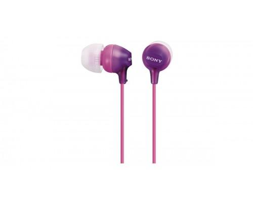 Наушники внутриканальные Sony MDR-EX15LP фиолетовые