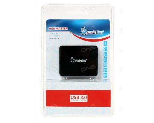 USB HUB SMART BUY USB 3.0 4 ПОРТА ЧЕРНЫЙ (SBHA-6000-K)